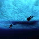 Flying under the ice, Antarctica