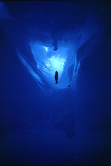 Giant ice cave.