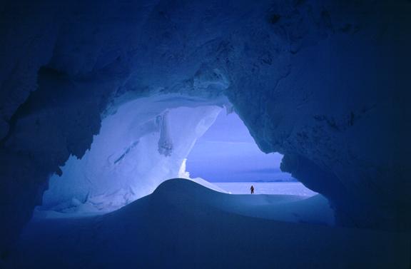 Giant ice cavern.