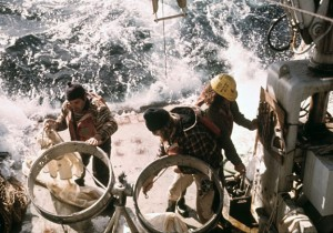 Preparing a Net Cast in Rough Seas