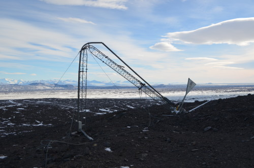 Wind generator destroyed by wind