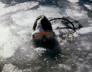 Yours Truly, at the End of Another Dive below the Ice