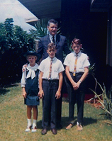 Ron Herpolsheimer, Me (far right) and my (Half) Brother and Sister